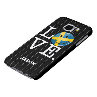 Love From Sweden Smiling Flag Samsung Galaxy S6 Case