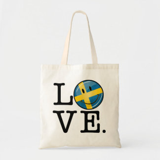 Love From Sweden Smiling Flag Tote Bag