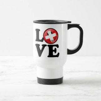 Love From Switzerland Smiling Flag Travel Mug