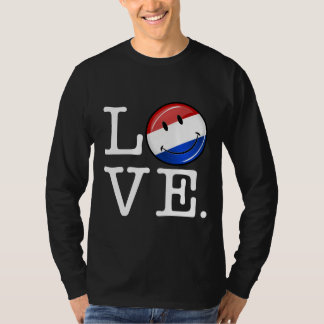 Love From the Netherlands Smiling Flag T-Shirt