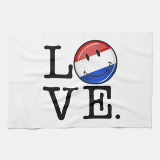 Love From the Netherlands Smiling Flag Towels