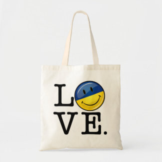 Love From the Ukraine Smiling Flag Tote Bag