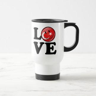 Love From Turkey Smiling Flag 15 Oz Stainless Steel Travel Mug