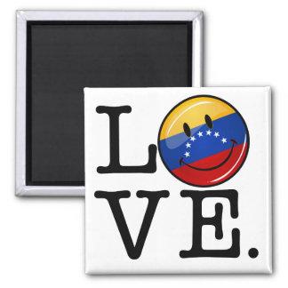 Love From Venezuela Smiling Flag Magnet