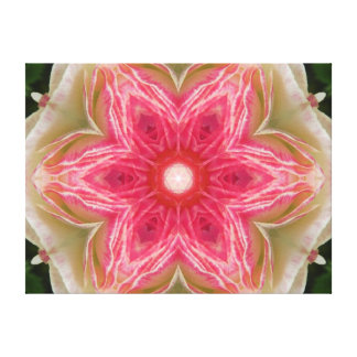 Love from Within Flower Mandala Canvas Print