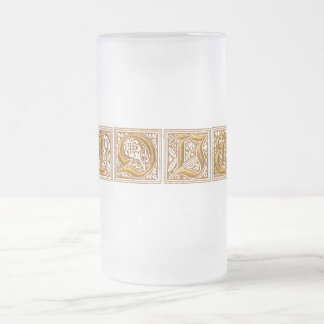 LOVE FROSTED GLASS BEER MUG