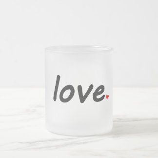 Love Frosted Glass Coffee Mug