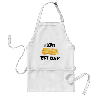 LOVE FRY DAY ADULT APRON