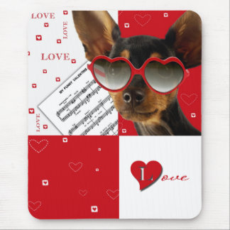 Love. Fun Valentine's Day Gift Mousepad