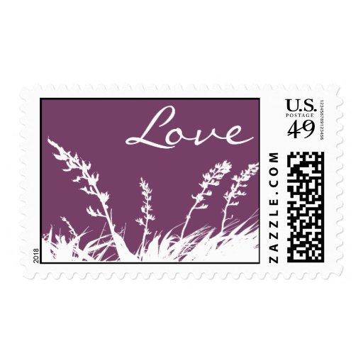 Love Garden Silhouette Postage Stamp