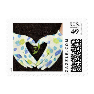 Love Gardening and the earth Stamp