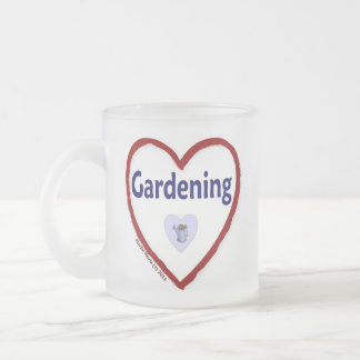 Love Gardening Frosted Glass Coffee Mug