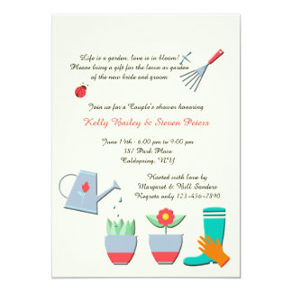 Love Gardening Shower Invitation