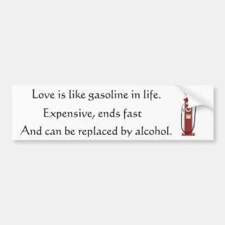 Love Gas Pump Bumper Stickers