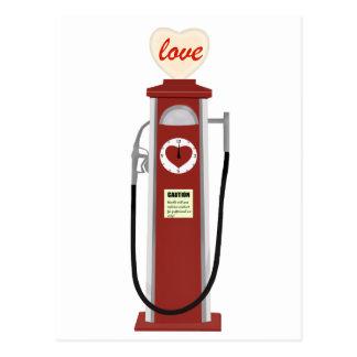 Love Gas Pump Postcard