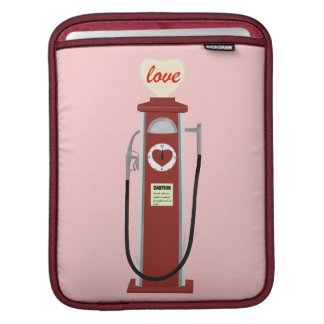 Love gas pump retro style iPad sleeve