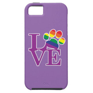 Love-Gay-Pawprint- iPhone SE/5/5s Case