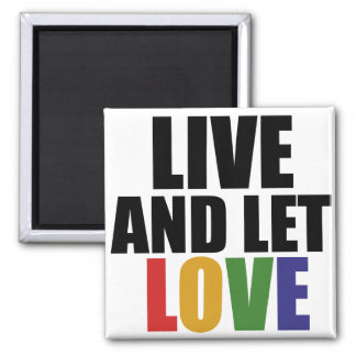 LOVE gay rights are equal rights 2 Inch Square Magnet