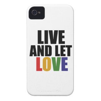LOVE gay rights are equal rights iPhone 4 Cases