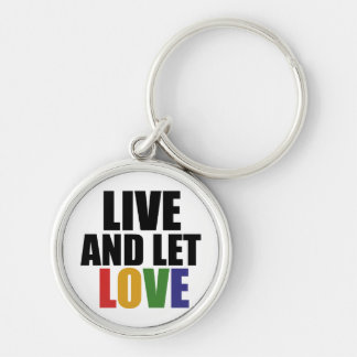 LOVE gay rights are equal rights Silver-Colored Round Keychain