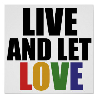 LOVE gay rights are equal rights Poster