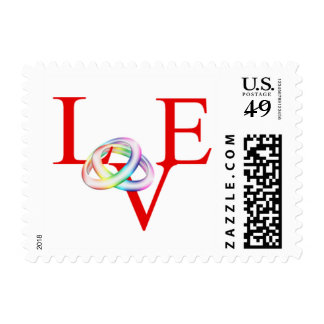 Love Gay Wedding Rings Invitation RSVP Save Date Postage Stamp