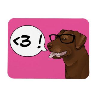 LOVE Geek Dog Hipster Labrador Personalize magnet