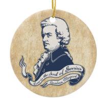 Love = Genius -Mozart Ceramic Ornament