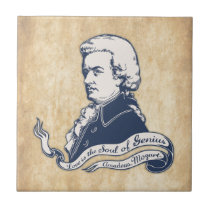 Love = Genius -Mozart Ceramic Tile