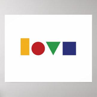 Love geometric print or poster