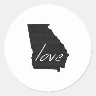 Love Georgia Classic Round Sticker
