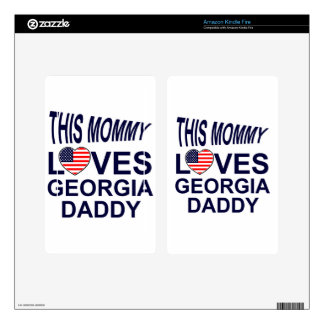 Love Georgia daddy Decal For Kindle Fire