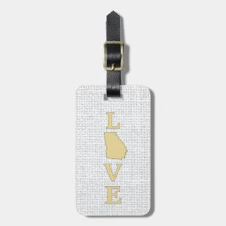 LOVE Georgia State Map Bag Tag