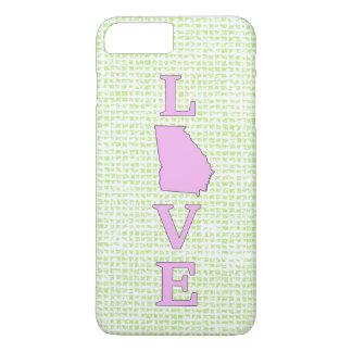 LOVE Georgia State Map iPhone 7 Plus Case