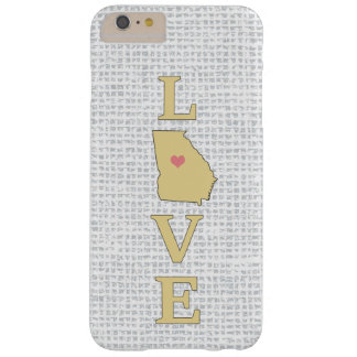 LOVE Georgia State Map moveable heart Barely There iPhone 6 Plus Case