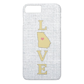 LOVE Georgia State Map moveable heart iPhone 7 Plus Case