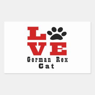 Love German Rex Cat Designes Rectangular Sticker