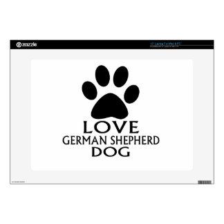 LOVE GERMAN SHEPHERD DOG DESIGNS SKIN FOR LAPTOP