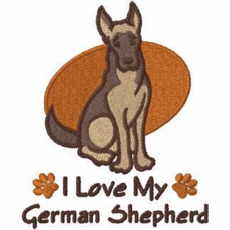 Love German Shepherd Embroidered Hoodie