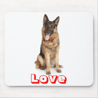 Love German Shepherd Puppy Dog Computer Mousepad