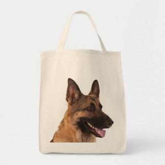 Love German Shepherd Puppy Dog Grocery Tote Bag