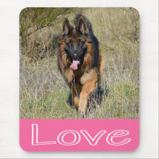 Love German Shepherd Puppy Dog Mousepad
