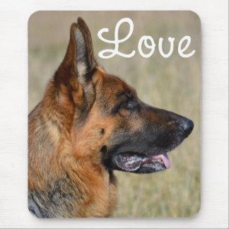 Love German Shepherd Puppy Dog Mousepad