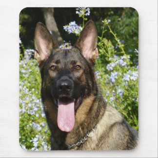 Love German Shepherd Puppy Dog Portrait Mousepad