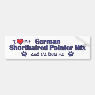 Love German Shorthaired Pointer Mix (Female Dog) Car Bumper Sticker