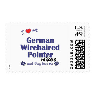 Love German Wirehaired Pointer Mixes (Multi Dogs) Stamps
