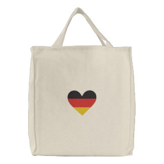 """Love Germany """"Heart Flag"""" Embroidered Bag Embroidered Bag"""