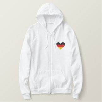 "Love Germany ""Heart Flag"" Embroidered Sweatshirt"