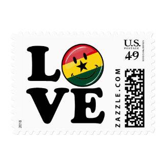 Love Ghana Smiling Ghanian Flag Stamp