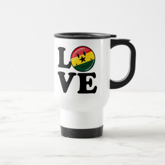 Love Ghana Smiling Ghanian Flag Travel Mug